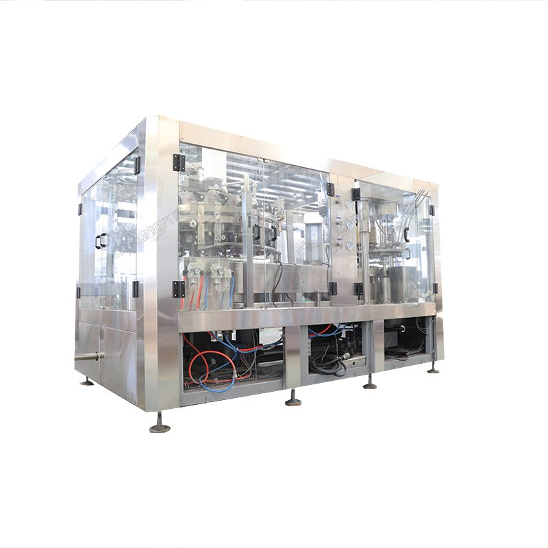 automatic beverage cans filling and capping machine line